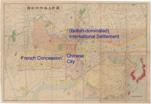 Figure 1: Map of Shanghai, 1937 (source: www.virtualshanghai.net/Maps/Source?pn=7 (accessed 21 May 2014)