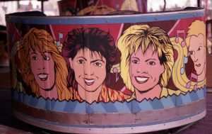 Figure 5: Albert Evans' Waltzer car detail with Banararama, Retford Fair 1984, photograph by author